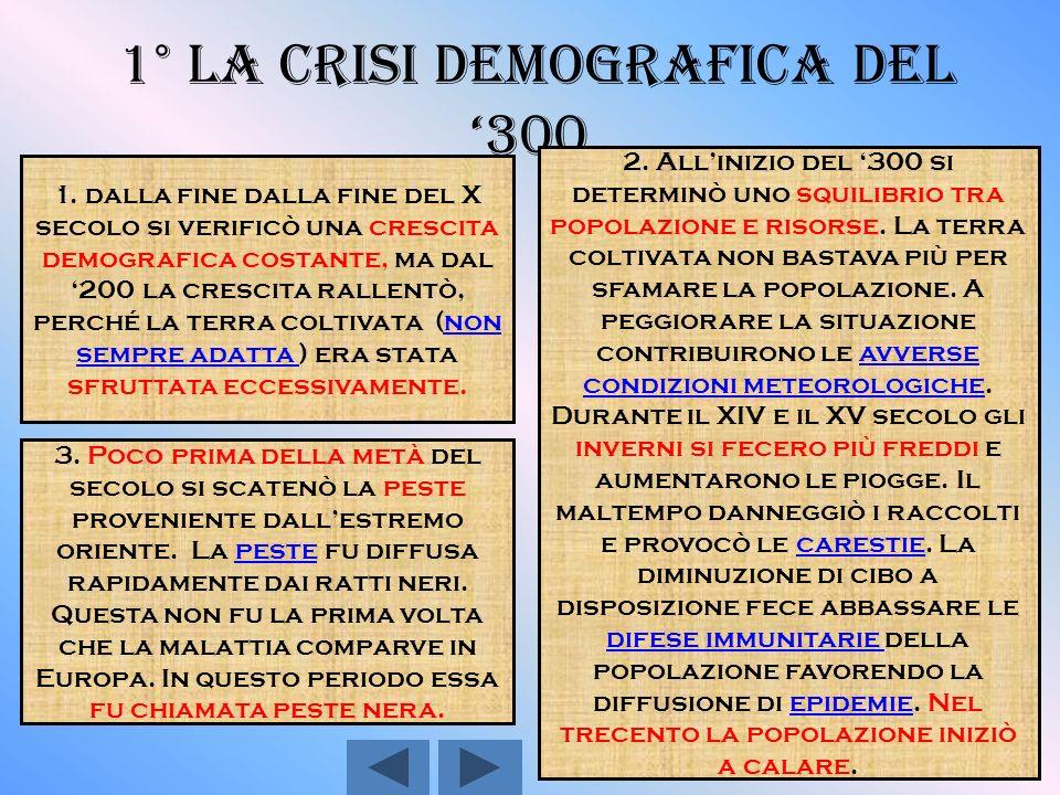 1° La crisi demografica del '300