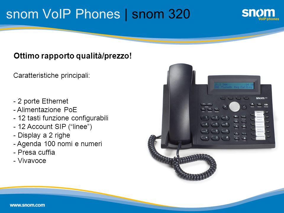 snom VoIP Phones | snom 320 Ottimo rapporto qualità/prezzo!
