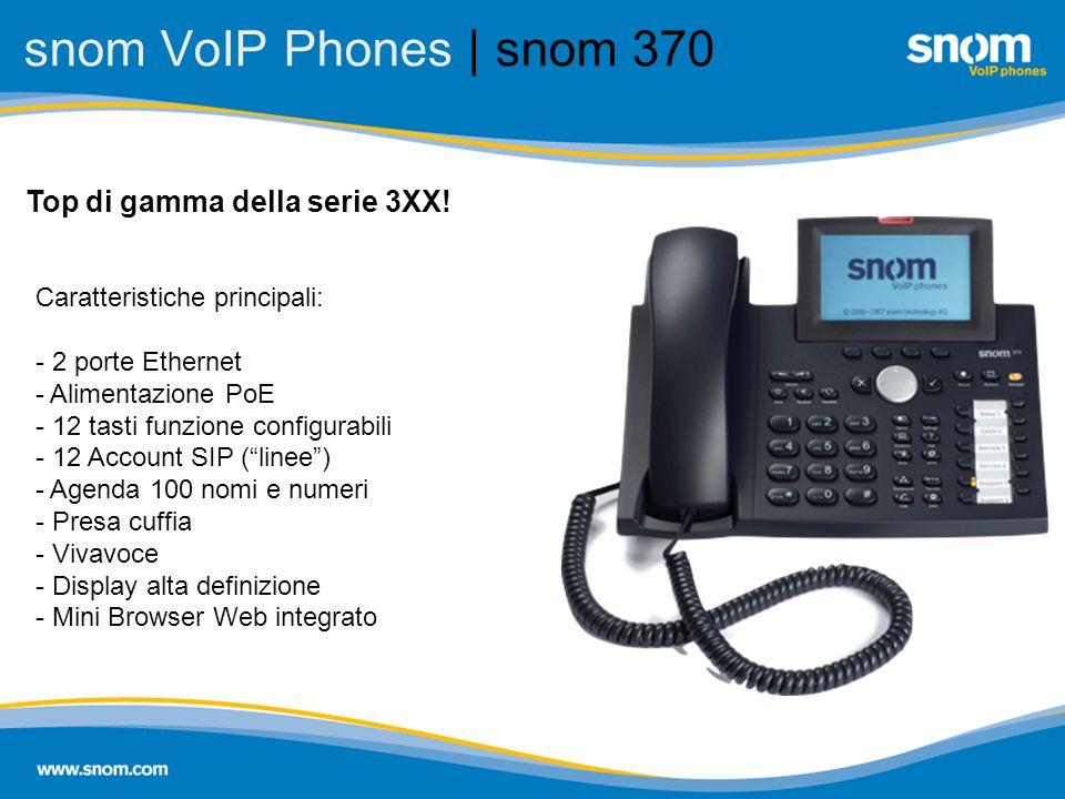 snom VoIP Phones | snom 370 Top di gamma della serie 3XX!