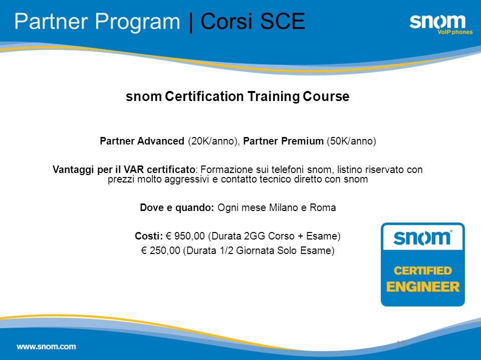 Partner Program | Corsi SCE