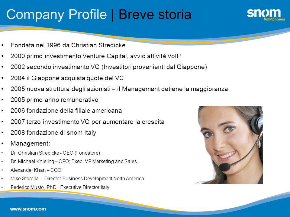 Company Profile | Breve storia
