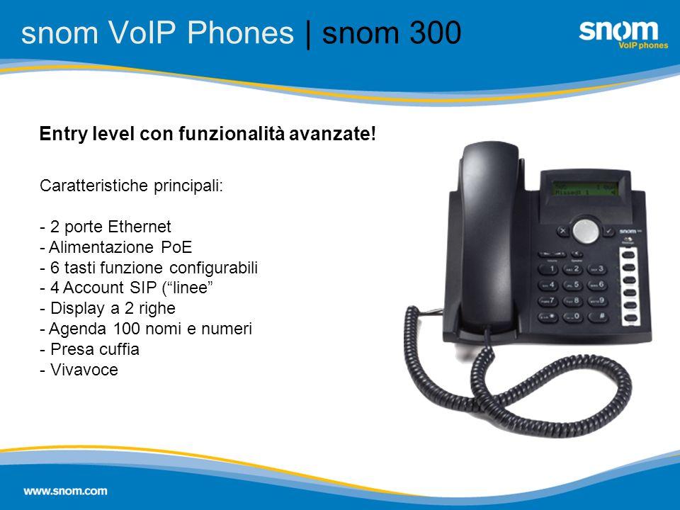 snom VoIP Phones | snom 300 Entry level con funzionalità avanzate!