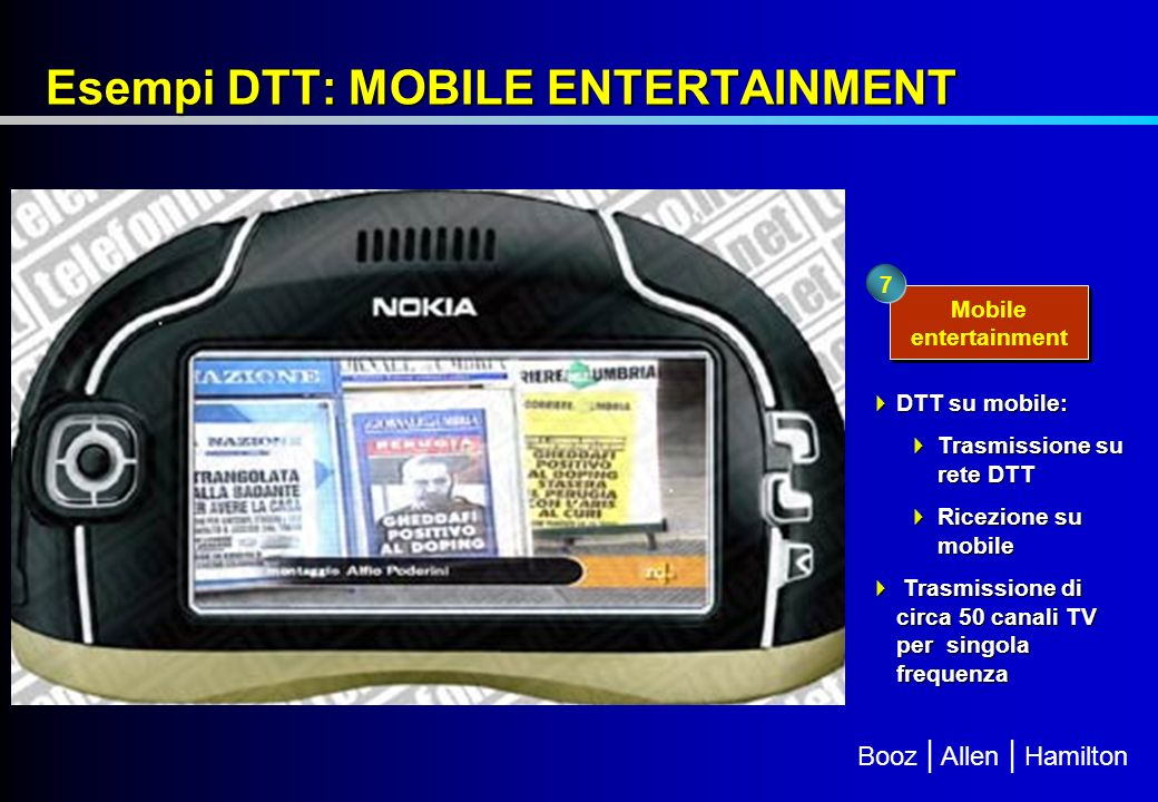 Esempi DTT: MOBILE ENTERTAINMENT