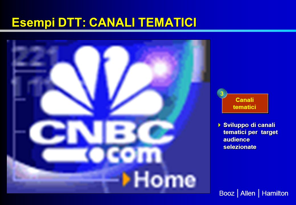 Esempi DTT: CANALI TEMATICI