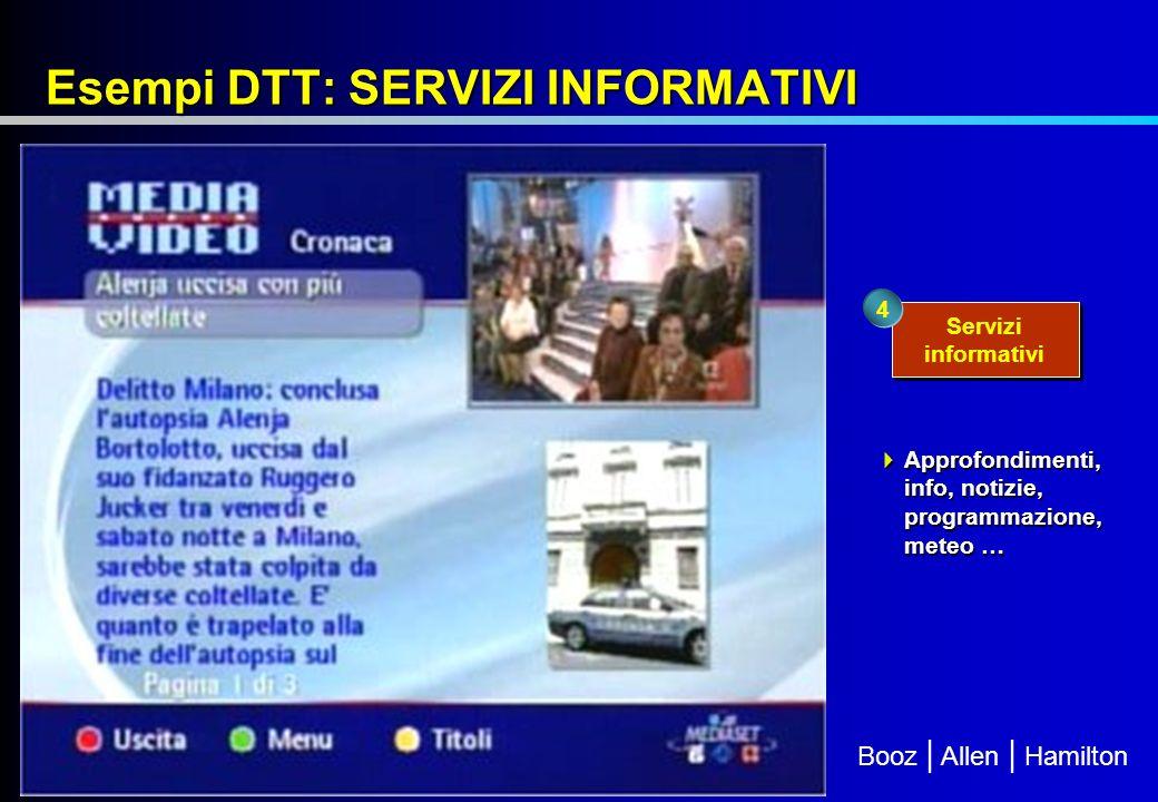 Esempi DTT: SERVIZI INFORMATIVI