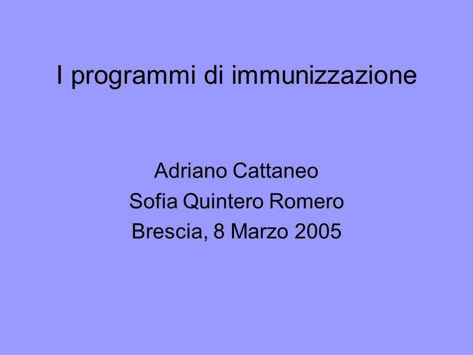 I programmi di immunizzazione