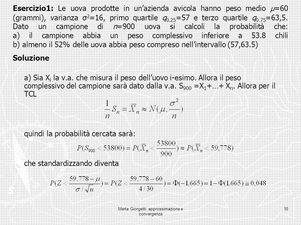 Marta Giorgetti: approssimazione e convergenza