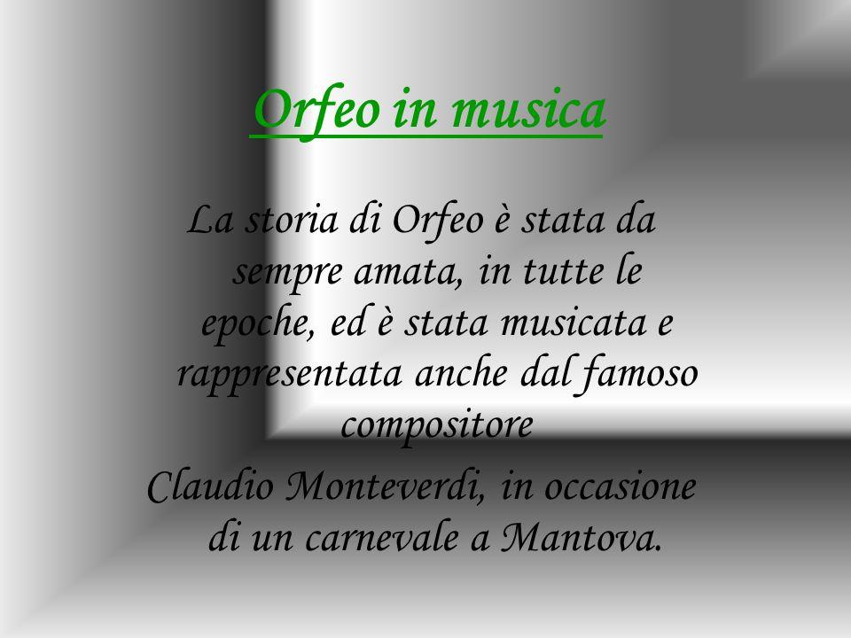 Claudio Monteverdi, in occasione di un carnevale a Mantova.