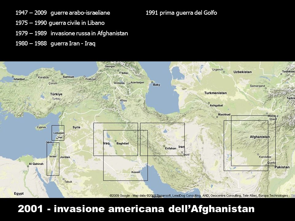 2001 - invasione americana dell'Afghanistan