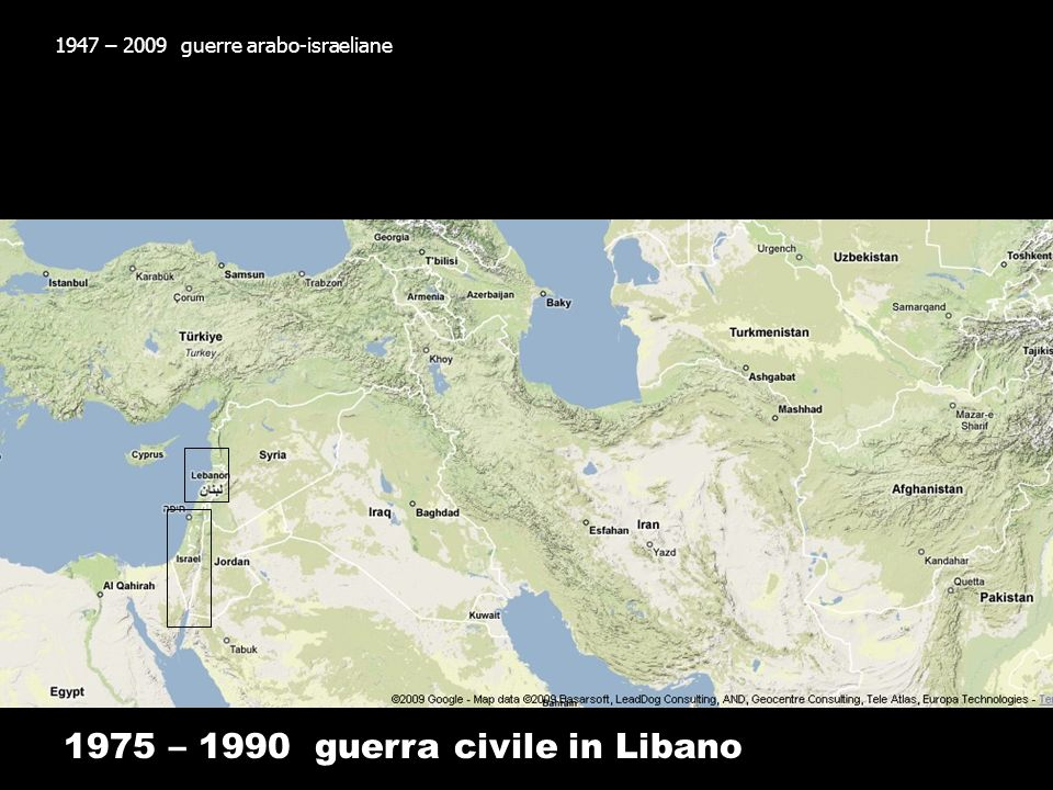 1975 – 1990 guerra civile in Libano