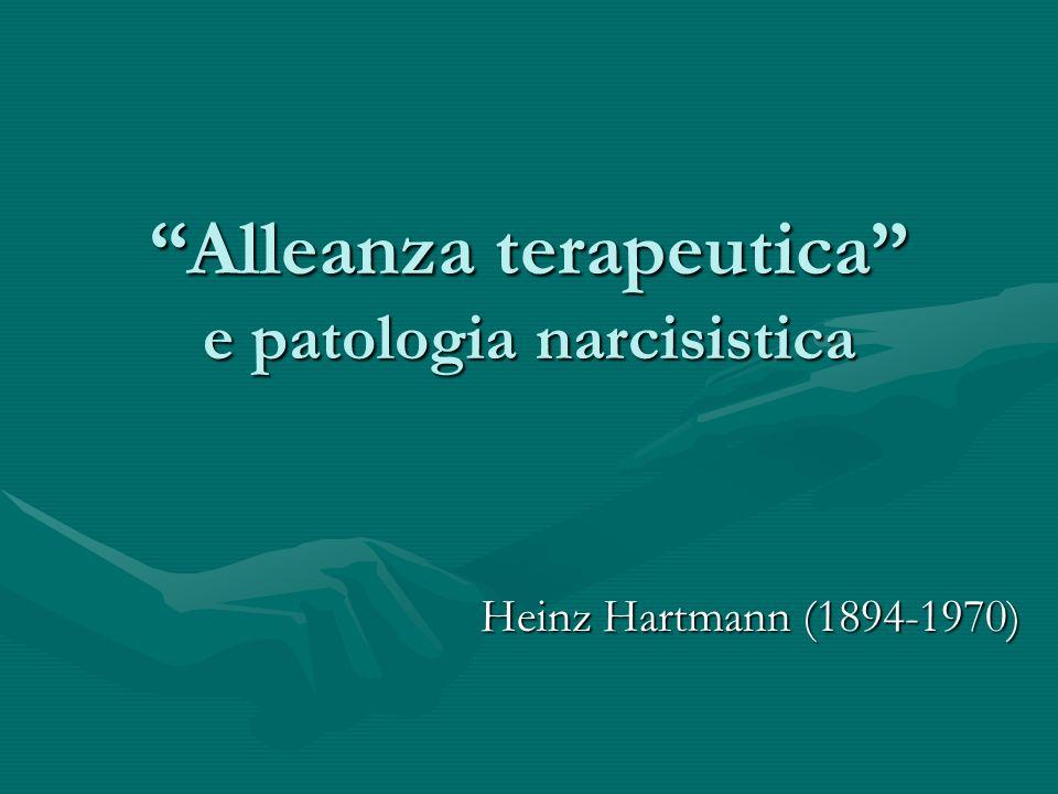 Alleanza terapeutica e patologia narcisistica
