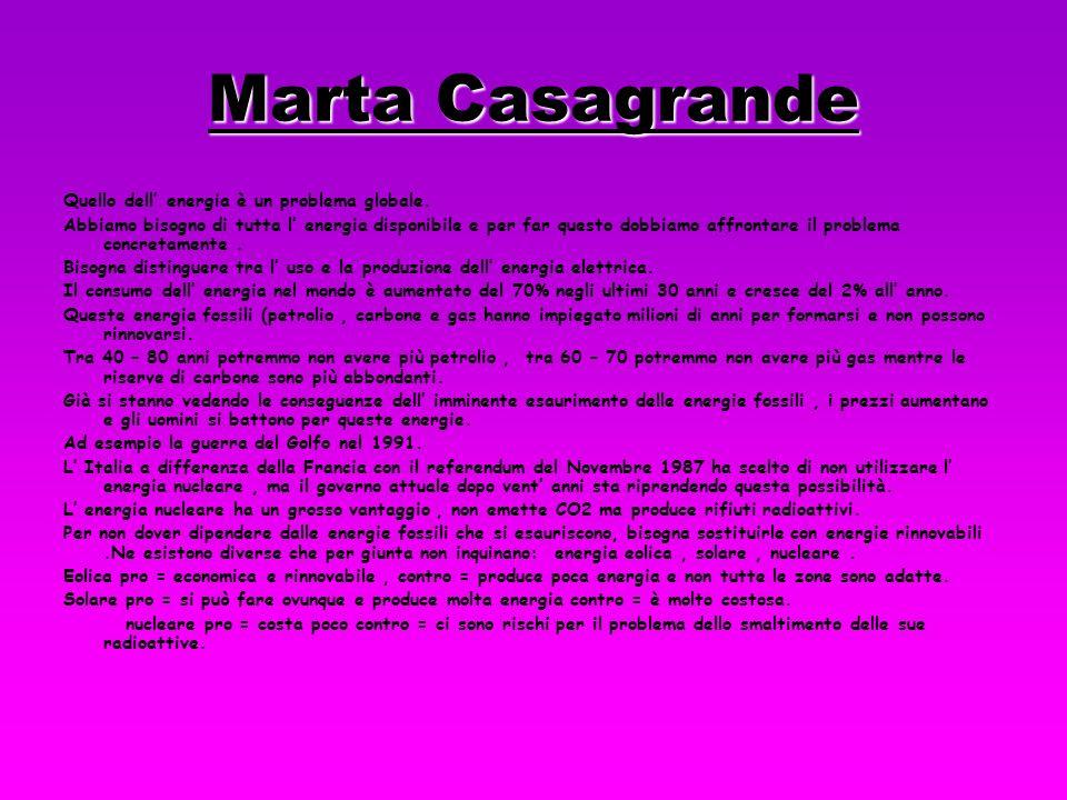 Marta Casagrande Quello dell' energia è un problema globale.