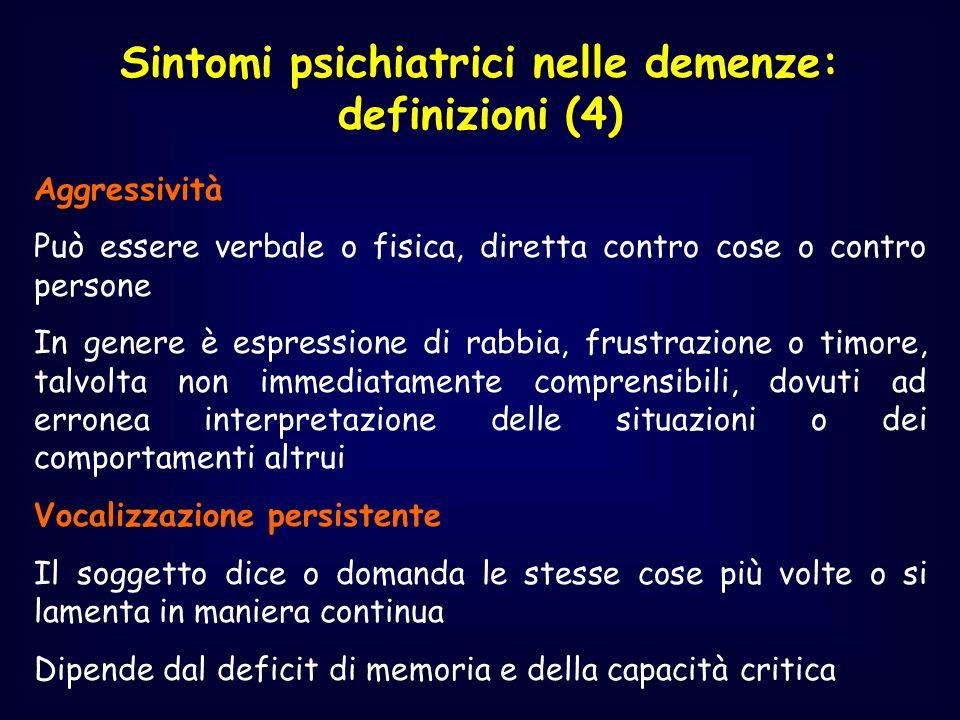 Sintomi psichiatrici nelle demenze: definizioni (4)