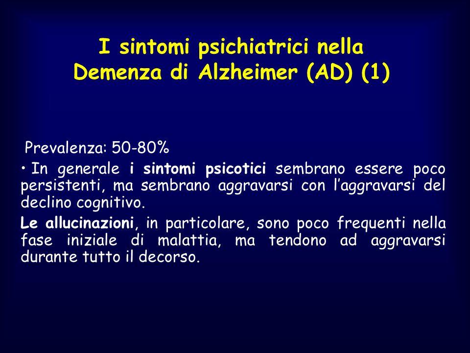I sintomi psichiatrici nella Demenza di Alzheimer (AD) (1)