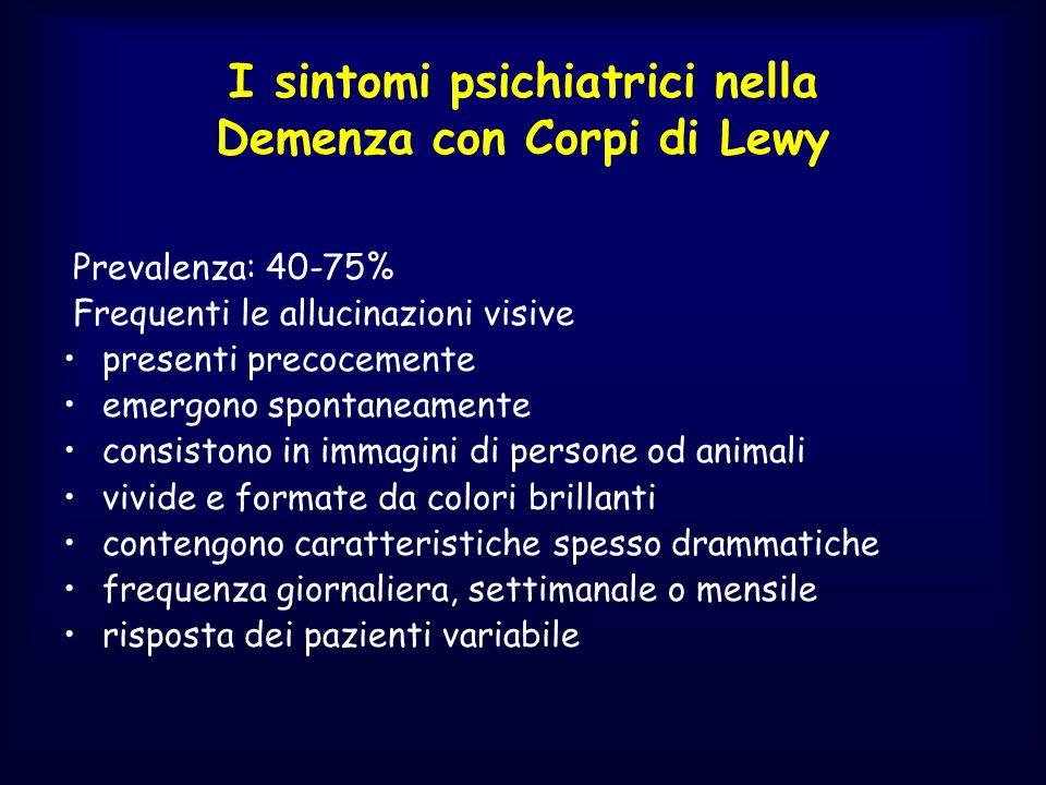 I sintomi psichiatrici nella Demenza con Corpi di Lewy