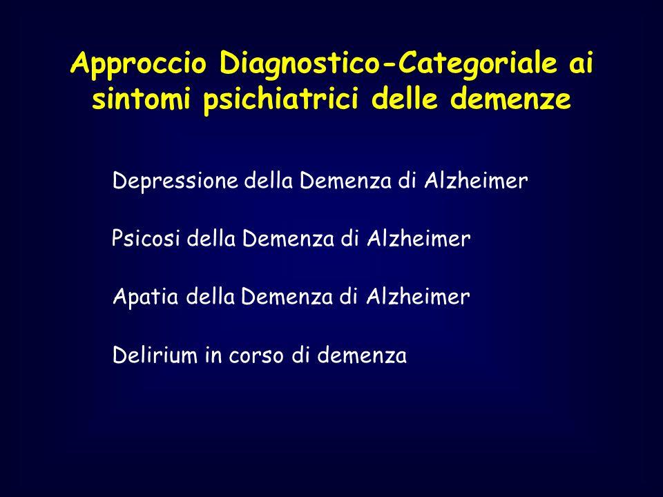 Approccio Diagnostico-Categoriale ai sintomi psichiatrici delle demenze