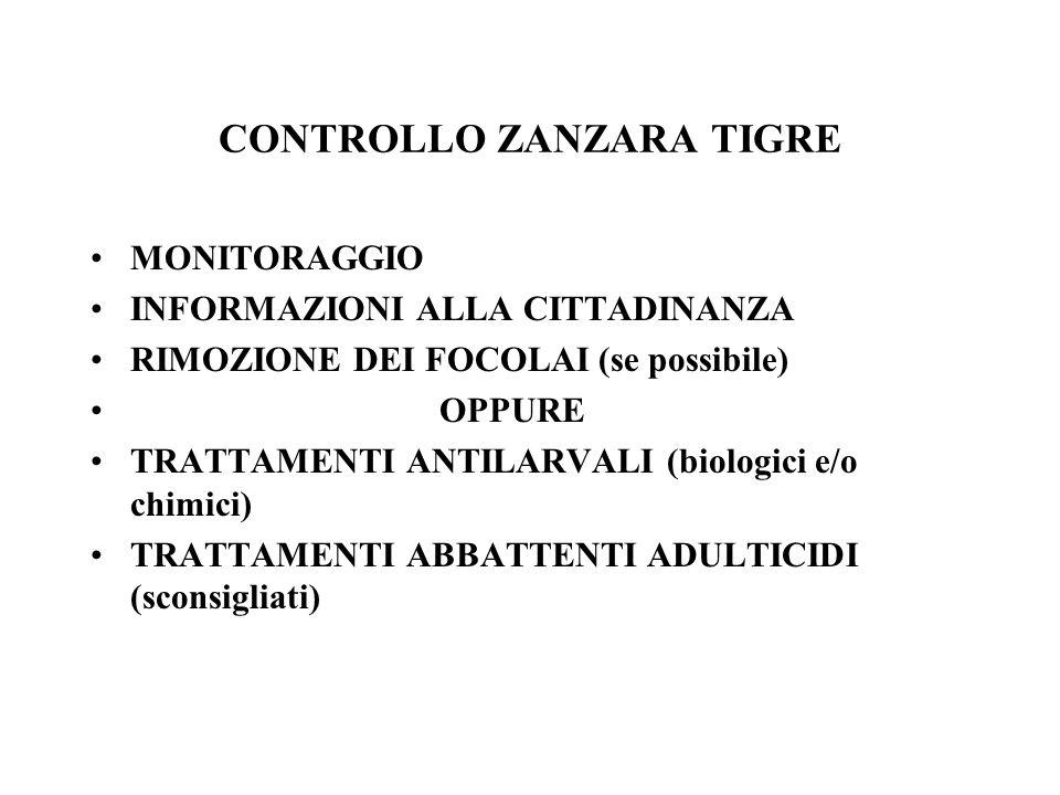 CONTROLLO ZANZARA TIGRE