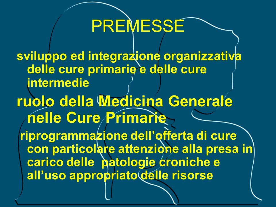 PREMESSE ruolo della Medicina Generale nelle Cure Primarie