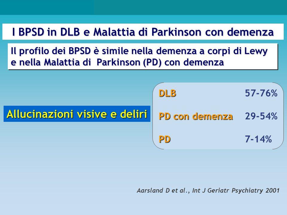 I BPSD in DLB e Malattia di Parkinson con demenza