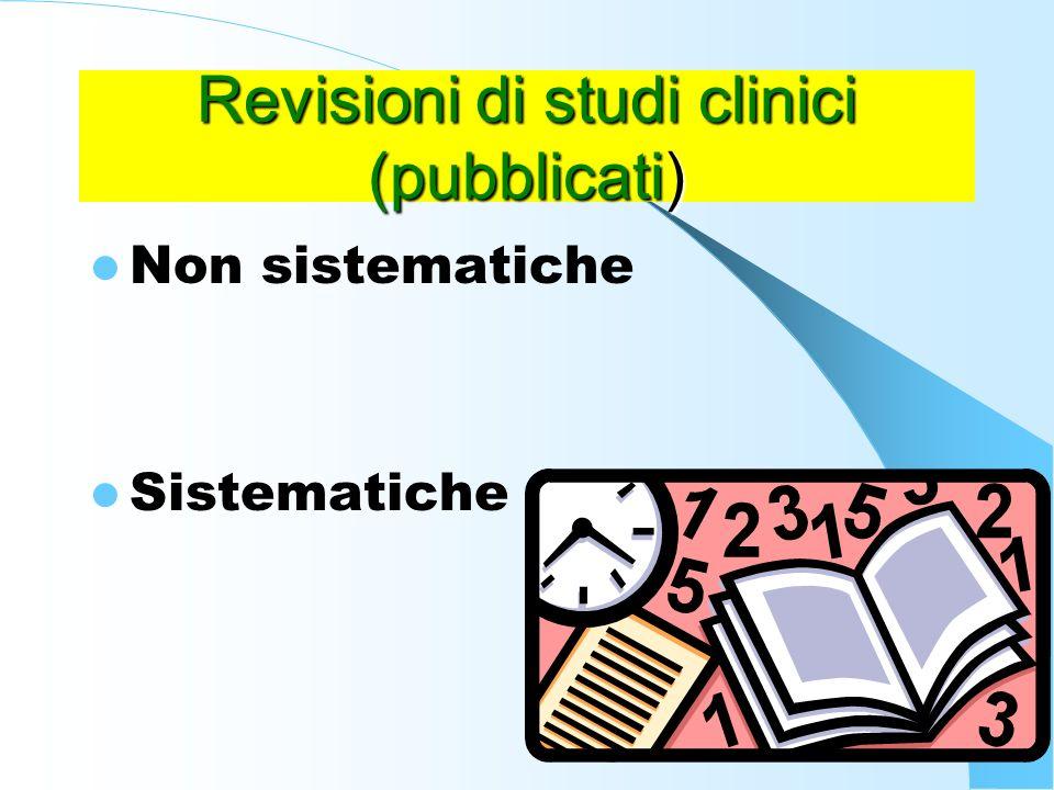 Revisioni di studi clinici (pubblicati)