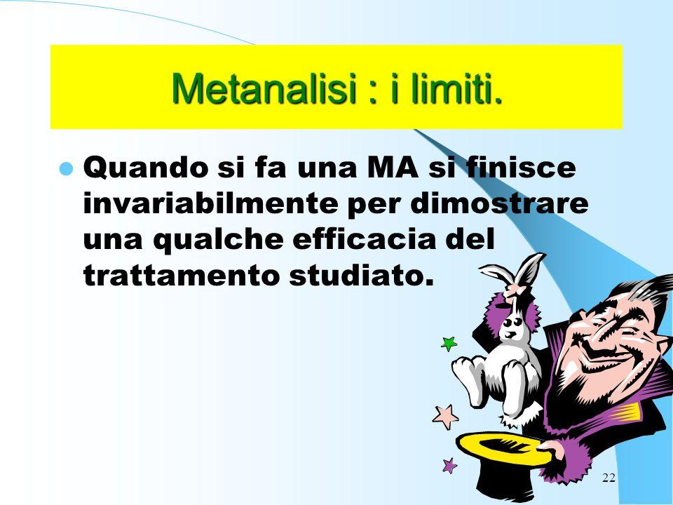 Metanalisi : i limiti.
