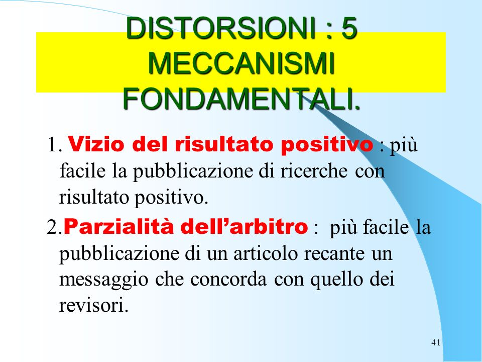 DISTORSIONI : 5 MECCANISMI FONDAMENTALI.