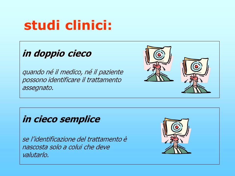 studi clinici: in doppio cieco in cieco semplice
