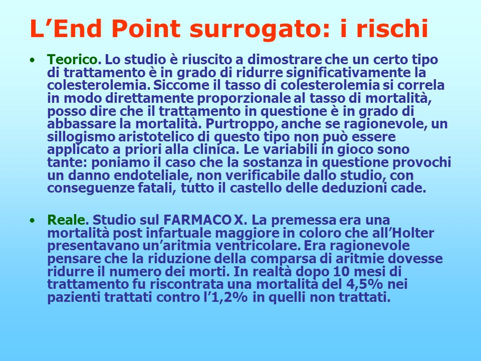 L'End Point surrogato: i rischi