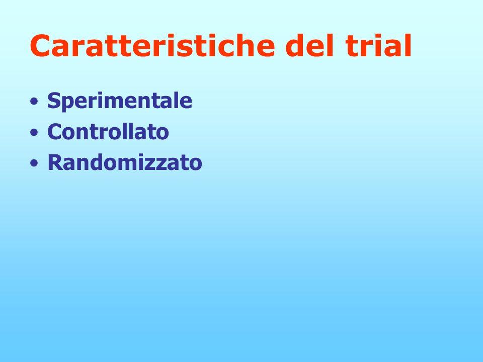 Caratteristiche del trial