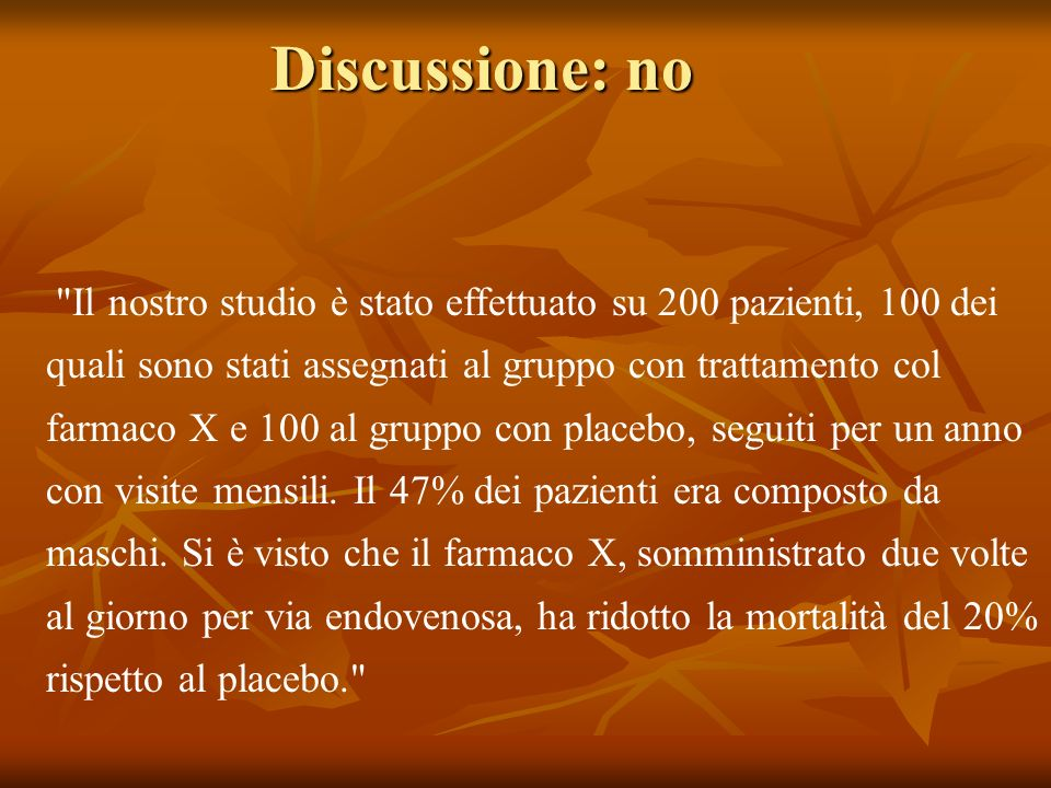 Discussione: no