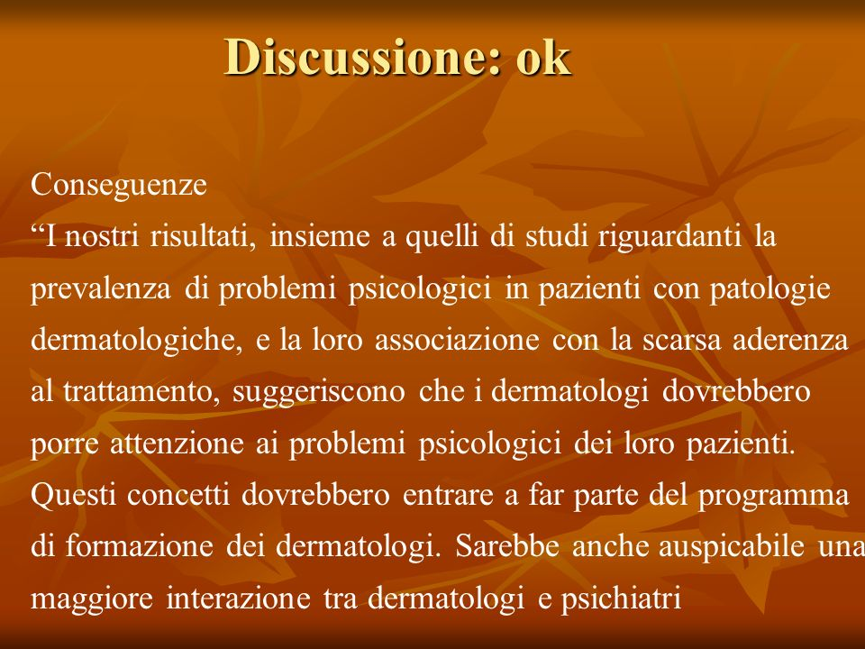 Discussione: ok Conseguenze