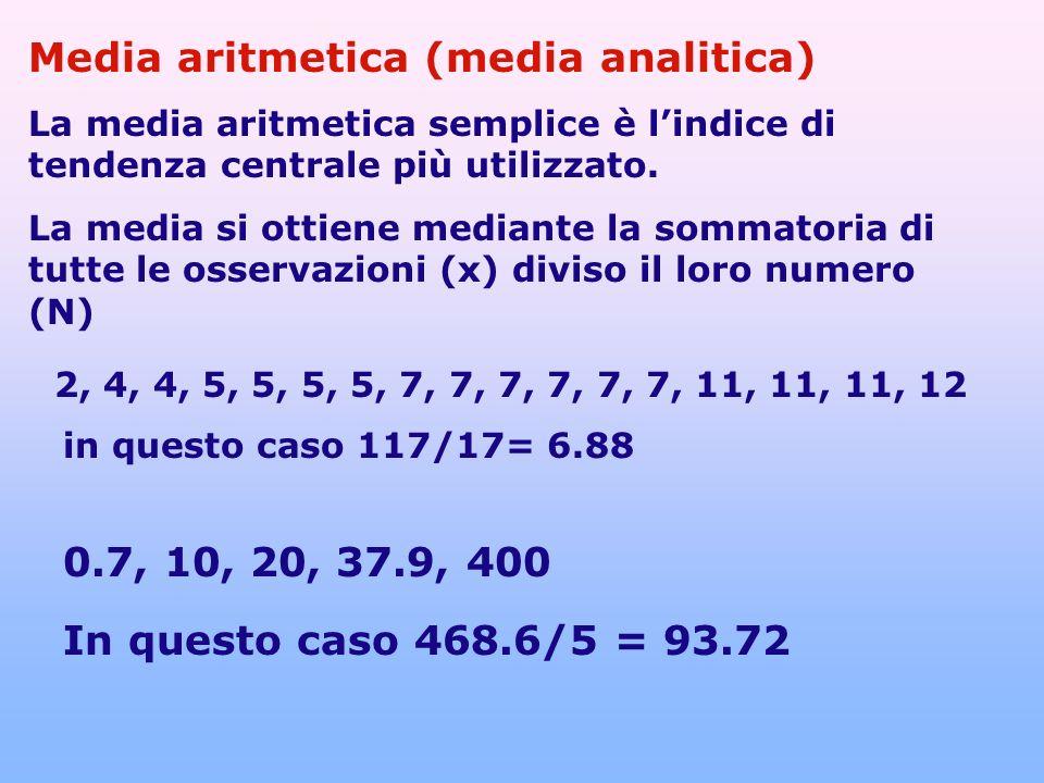 Media aritmetica (media analitica)