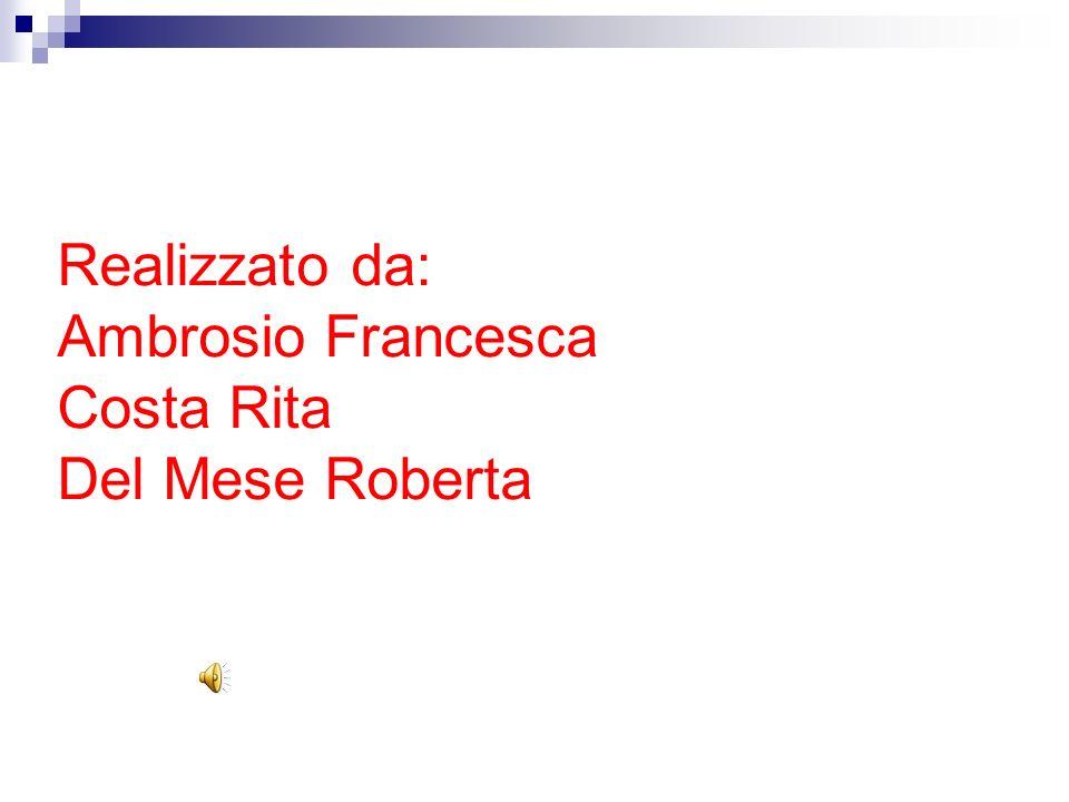 Realizzato da: Ambrosio Francesca Costa Rita Del Mese Roberta
