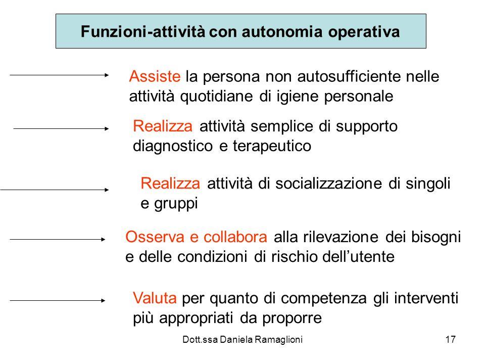 Funzioni-attività con autonomia operativa
