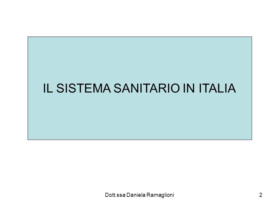 IL SISTEMA SANITARIO IN ITALIA