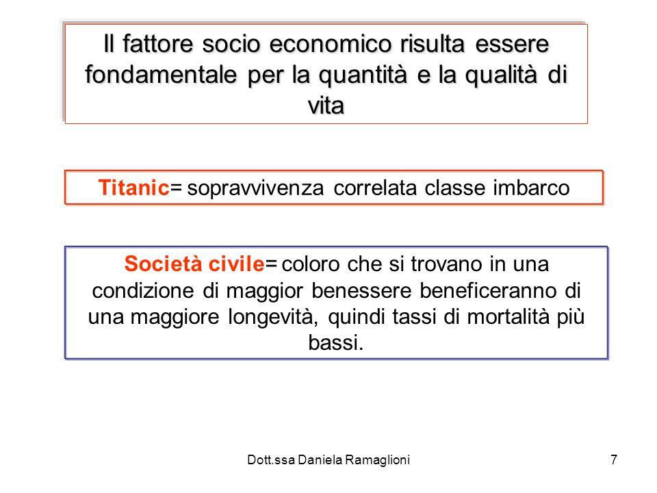 Il fattore socio economico risulta essere fondamentale per la quantità e la qualità di vita