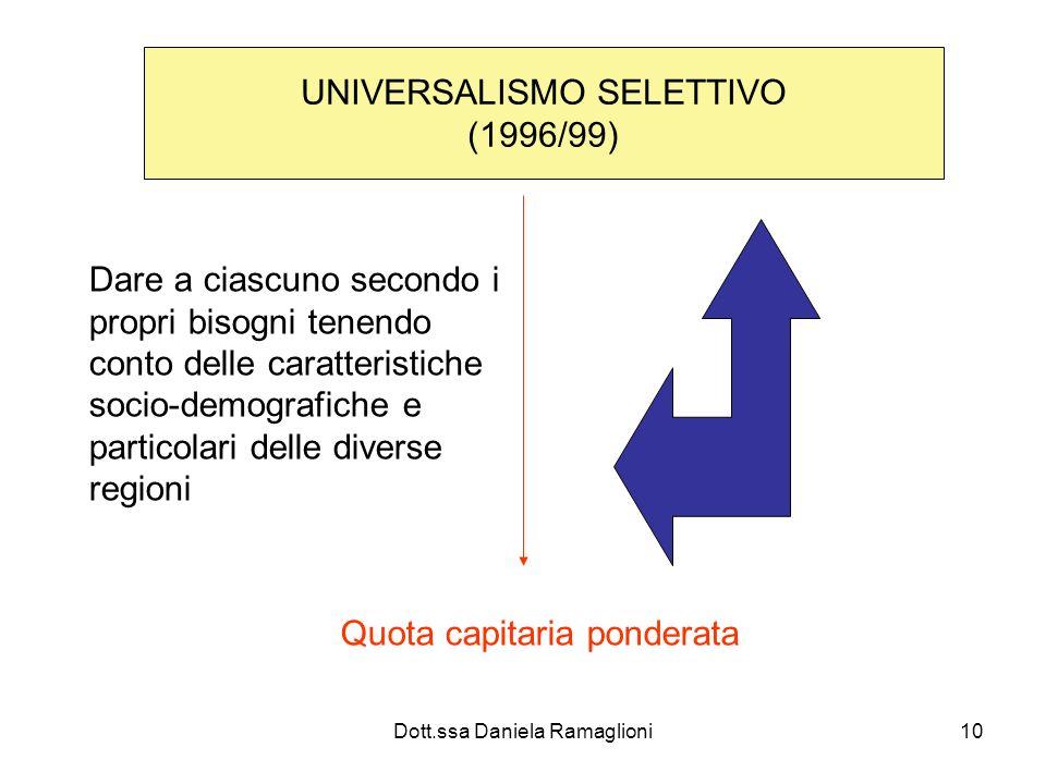 UNIVERSALISMO SELETTIVO (1996/99)