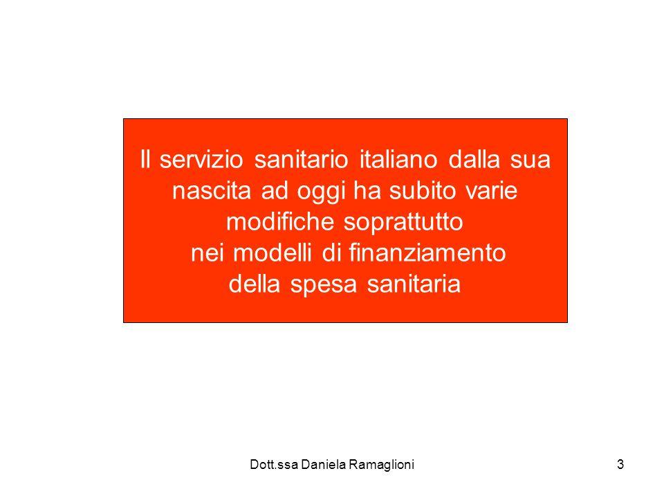 Il servizio sanitario italiano dalla sua