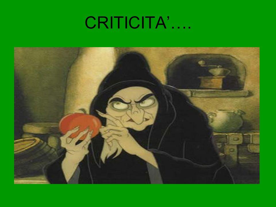 CRITICITA'….