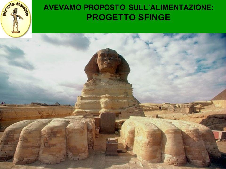 AVEVAMO PROPOSTO SULL'ALIMENTAZIONE: PROGETTO SFINGE