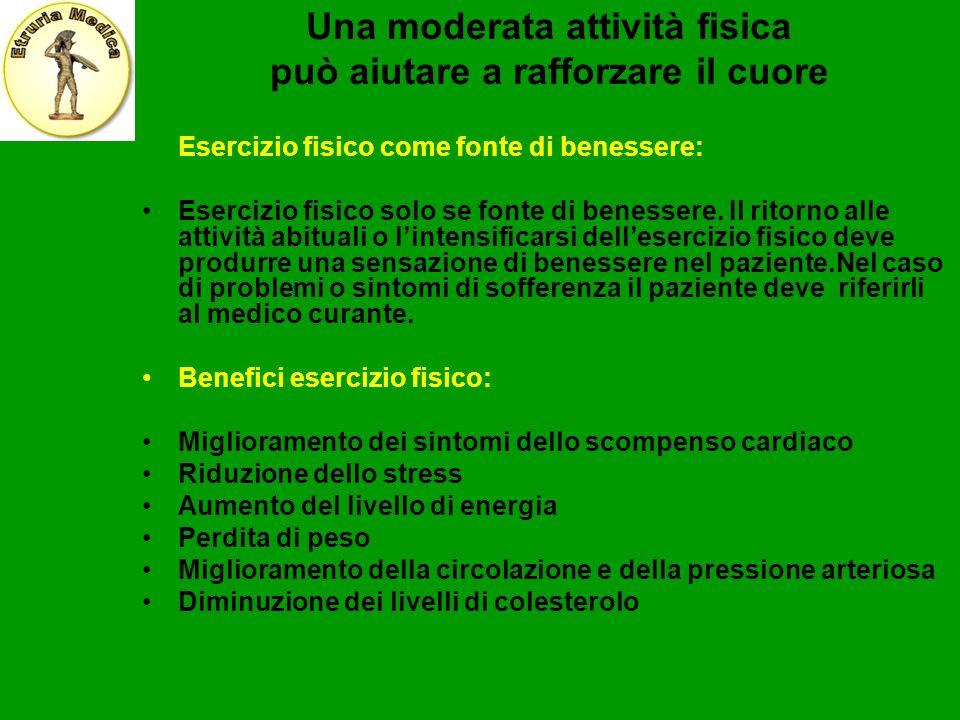 Una moderata attività fisica può aiutare a rafforzare il cuore