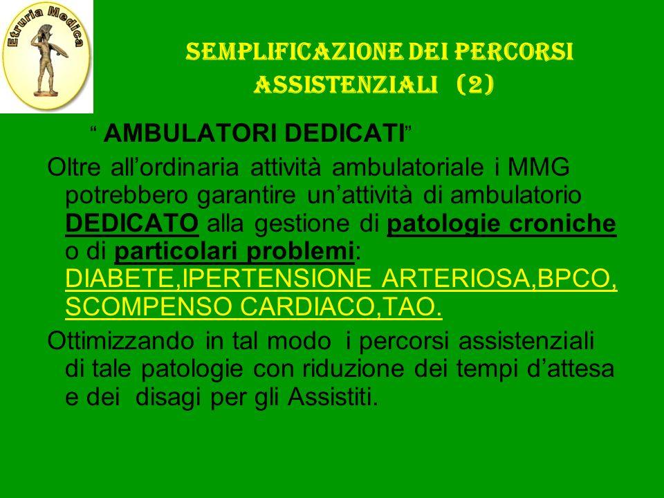 Semplificazione dei percorsi assistenziali (2)