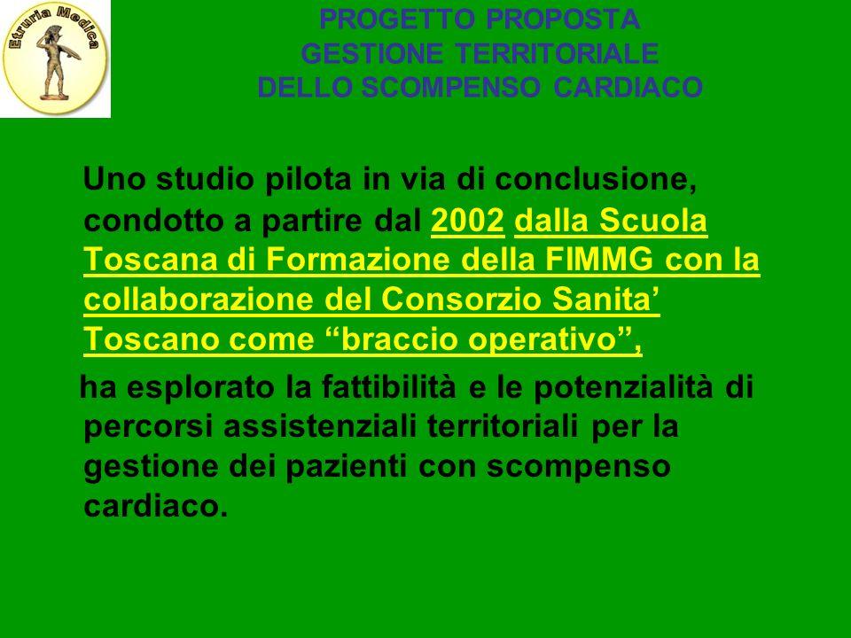 PROGETTO PROPOSTA GESTIONE TERRITORIALE DELLO SCOMPENSO CARDIACO