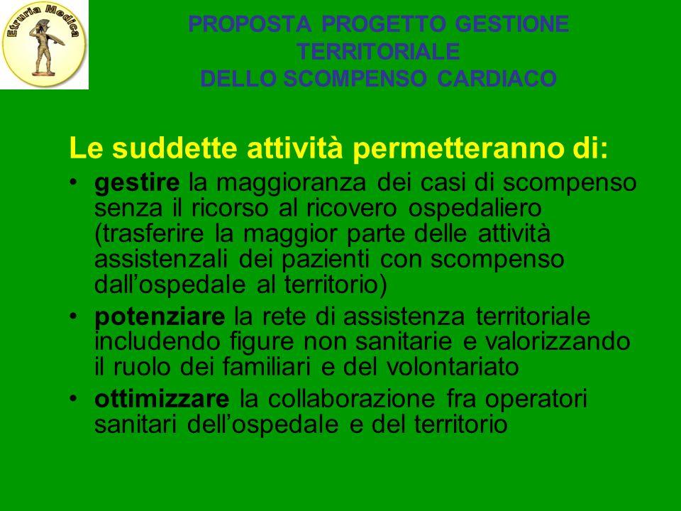 PROPOSTA PROGETTO GESTIONE TERRITORIALE DELLO SCOMPENSO CARDIACO
