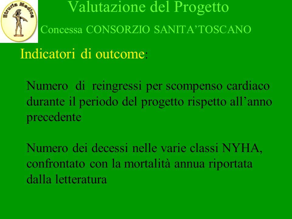 Valutazione del Progetto Concessa CONSORZIO SANITA'TOSCANO