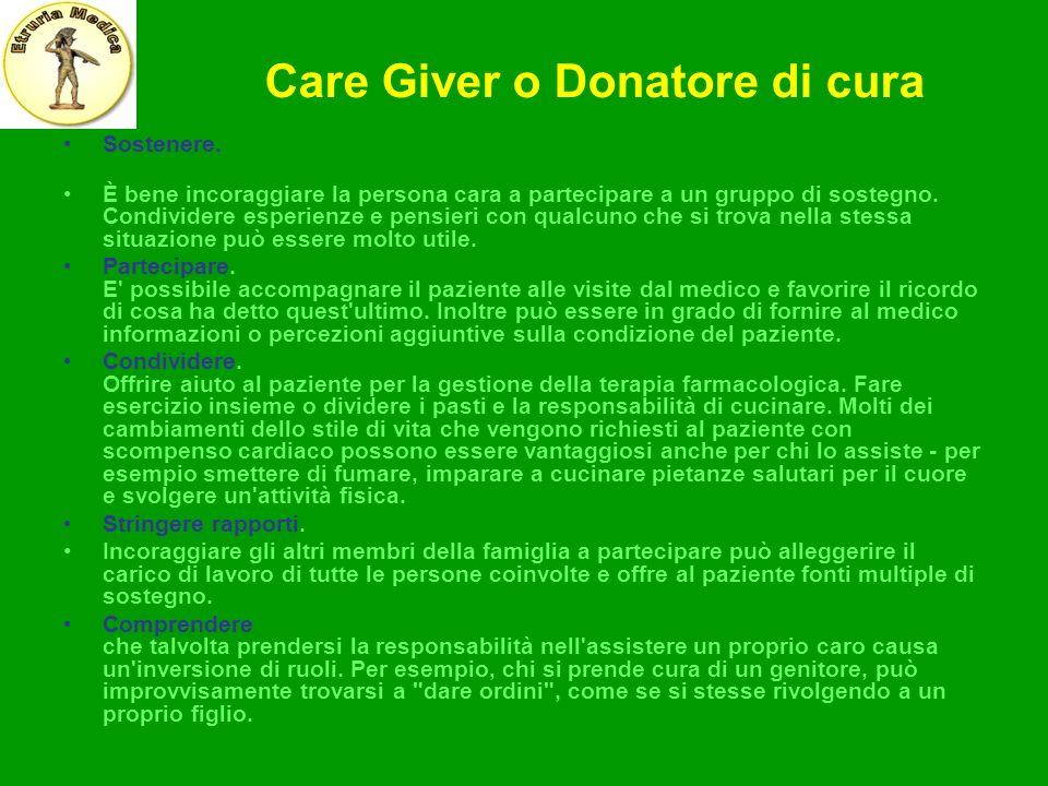 Care Giver o Donatore di cura