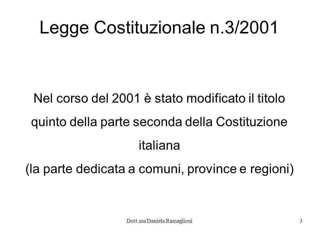 Legge Costituzionale n.3/2001