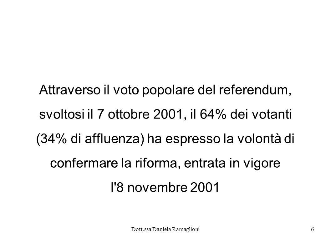 Attraverso il voto popolare del referendum,