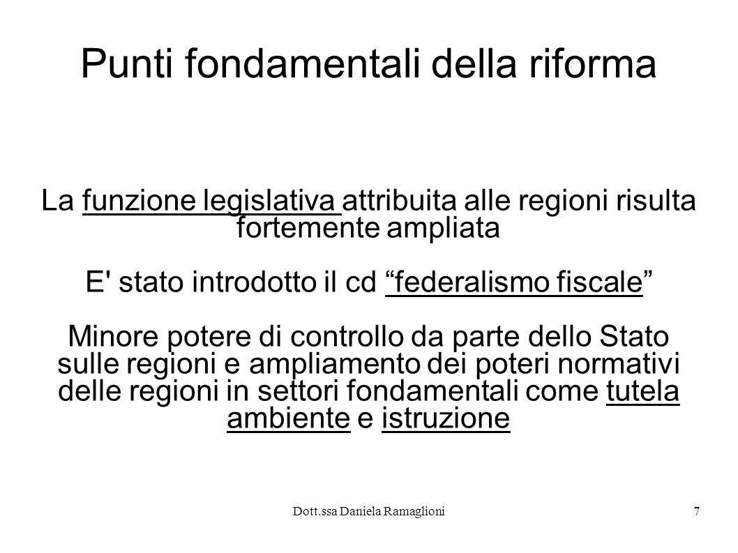 Punti fondamentali della riforma