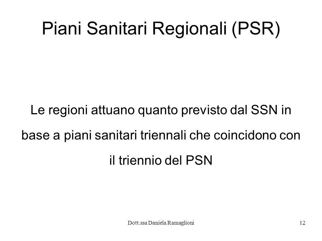 Piani Sanitari Regionali (PSR)